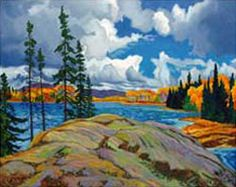Full Color Algonquin Park Art Print by Paul Gauthier. All prints are professionally printed, packaged, and shipped within 3 - 4 business days. Choose from multiple sizes and hundreds of frame and mat options. Group Of Seven Artists, Group Of Seven Paintings, Landscape Quilts, Landscape Art, Landscape Paintings, Canadian Painters, Canadian Artists, Fine Art Amerika, Park Art