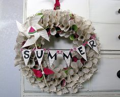 paperwreath made from book pages