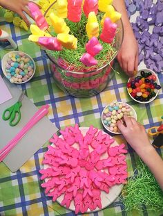 PartyTipz: entertaining with style and ease Event Planning, Kid Stuff, Peeps, Easter, Entertaining, Table Decorations, Decorating, Party, Kids