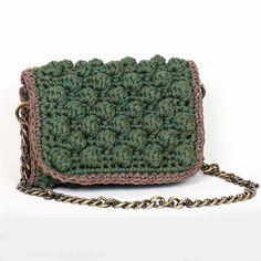 Handmade crochet flap bag Handmade Bags, Saddle Bags, Handbags, Wool, Knitting, Leather, Closet, Purses, Handmade Purses