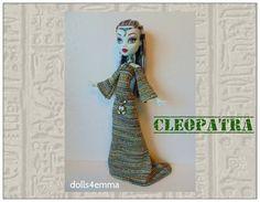 Monster High 17-inch Doll kleding - CLEOPATRA Egypte Gown, godin gordel, hoofdtooi & ketting - handgemaakte aangepaste Egyptische fashion door dolls4emma