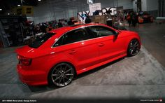 There's no doubt that the S3 is the latest in Audi's long line of super hot cars. Interestingly though, only one Audi S3 (or A3 sedan) made it to SEMA, and this one was displayed proudly at German suspension specialists H&R.