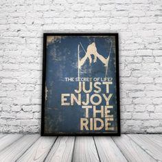 Skiing Poster, ski poster, snowboarding, xsports poster, skating, surfing, extreme sports, snow, winter sports, sports poster, blue, A3 post...