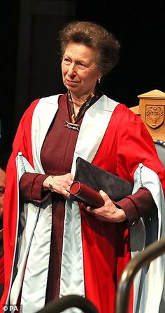 The Duchess of Cornwall presented her sister-in-law Princess Anne (pictured) with an honorary degree at the University of Aberdeen today Royal Princess, Crown Princess Victoria, Princess Diana, House Of Windsor, Sister In Law, Duchess Of Cornwall, Prince Harry And Meghan, Prince Charles, Queen Elizabeth Ii