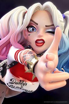 Harley quinn fanart by Yinxuan Dezarmenien tags : animation animacion fanart art…