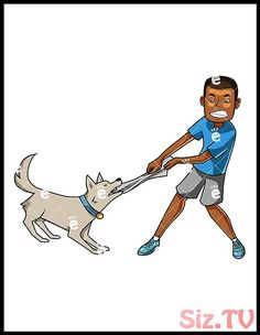 Black Man Playing Tug Of War With Dog Cartoon Vector Clipart - FriendlyStock Cartoon Faces, Cartoon Dog, Cartoon Characters, Comedy Central South Park, Free Vector Illustration, Caricature Drawing, Tug Of War, Bff Pictures, Best Friends Forever