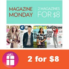 2 for $8.00 - Best magazine subscription sale of the year! You can even keep 1 and give 1 - so start browsing 60+ titles (ends Dec. 16) http://freebies4mom.com/magazines-2/ #ad