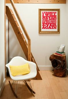 sneak peek best of: canadian homes   Design*Sponge  Love the typography on the wall
