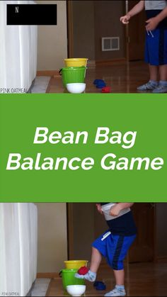 The bean bag balance game is a fun balance game for kids! An absolute must for a classroom, therapy session, or at home. This game is easy to modify for different ages and abilities! - Balance Games For Kids Physical Activities For Preschoolers, School Age Activities, Motor Skills Activities, Movement Activities, Toddler Learning Activities, Art Therapy Activities, Games For Toddlers, Preschool Activities, Games For Children
