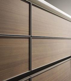 Aluminum Walnut   drawer fronts