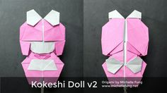 Origami Kokeshi Doll v2 (Michelle Fung)