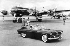 South African Airways Constellation and a T-Bird