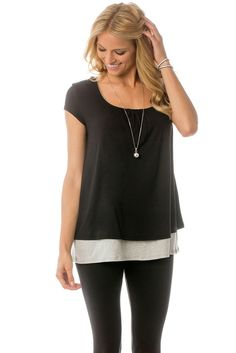 Majamas Orchard Nursing Top in Black. Please use coupon code NewProducts to receive 15% off these items. To receive the discount, please place your order by midnight Monday, March 21, 2016