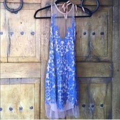 For love and lemons halter blue luau dress For love and lemons halter blue luau dress. Nwt never been worn. For Love and Lemons Dresses Mini
