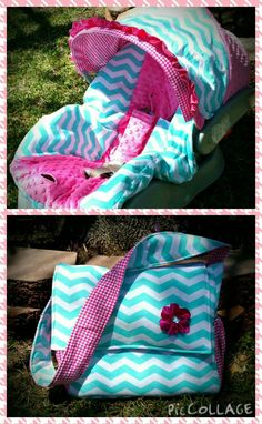 Carseat Cover and Diaper bag Gift Set Chevron Baby by ShaysStore
