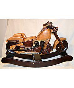 Premium Wood Motorcycle Rocker