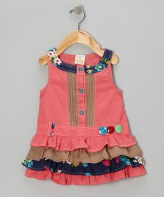 Take a look at this Pink Ruffle Button Dress - Infant, Toddler & Girls by the Silly Sissy on #zulily today!