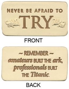 """Amazon.com - """"NEVER BE AFRAID TO TRY"""" POSITILE"""