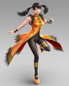 Ling Xiaoyu Tekken 7 p Tekken 5 Characters, Video Game Characters, Fantasy Characters, Female Characters, Tekken 4, Tekken Cosplay, King Of Fighters, Game Character Design, Character Art