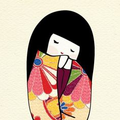 I love kokeshi dolls :)