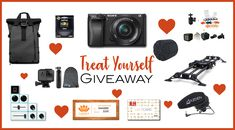 """WIN OVER $3,700 IN CAMERA GEAR Giveaway includes: Sony a6300 Camera Body and Kit Lens, WANDRD PRVKE 31 Bag, Hoya HD3 Circular Polarizer, 5 KUVRD Universal Lens Caps, Litra Poparazzi Bundle, Palette Expert Kit, Rhino Evo Carbon Slider 24"""", Azden SMX-30 Microphone, GoPro Hero 6, Short Tripod, GoPro Beanie, $250 B&H Gift Card, and $250 Camera Ambassador Gift Card."""