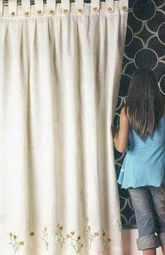 Como hacer cortinas paso a paso Tab Top Curtains, Curtains With Blinds, Window Curtains, Kitchen Curtains, Curtain Tutorial, Curtain Accessories, Linens And Lace, Diy Pillows, Window Coverings