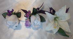 "17 Pieces Package Silk Flower Wedding Decoration Bridal Bouquet PURPLE LAVENDER IVORY ""Lily Of Angeles"". $199.99, via Etsy."