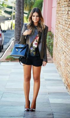 Leather and floral