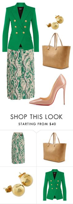"""style theory by Helia"" by heliaamado ❤ liked on Polyvore featuring Gucci, Victoria Beckham, NOVICA, Balmain and Christian Louboutin"