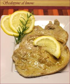 scaloppine al limone fettine di vitello
