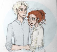 Rose and Scorpius. I think this might supposedly be Draco and Ginny Arte Do Harry Potter, Harry Potter Artwork, Slytherin Harry Potter, Harry Potter Ships, Harry Potter Universal, Harry Potter World, Harry Potter Memes, Rose And Scorpius, Scorpius Malfoy