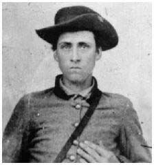 Unidentified Confederate soldier attributed to the State of Mississippi.