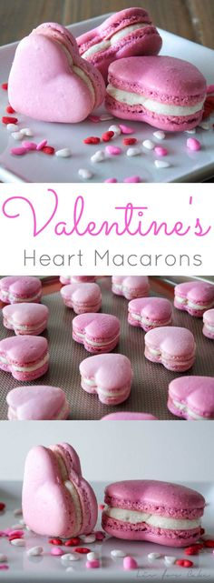 These adorable cinnamon spiced heart macarons are the perfect way to celebrate Valentine's Day. | livforcake.com
