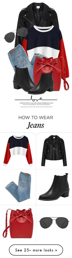 """""""21:59"""" by monmondefou on Polyvore featuring Zizzi, American Eagle Outfitters and Mansur Gavriel"""