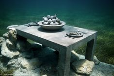 The Last Supper, Cancun, Mexico - Take a scuba diving trip to places Jason de Caires Taylor has exhibits. Stunning!
