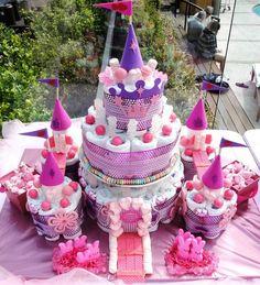 31 Diaper Cake Ideas That Are Borderline Genius - such as this amazing castle.