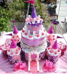 31 Diaper Cake Ideas That Are Borderline Genius - such as this amazing castle.