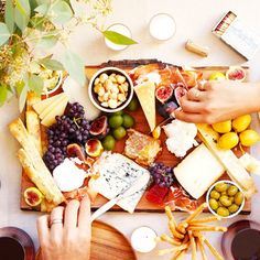 assembling the perfect cheese plate.