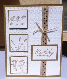 Another Guy Card by - Cards and Paper Crafts at Splitcoaststampers Masculine Birthday Cards, Birthday Cards For Men, Masculine Cards, Card Birthday, Beautiful Birthday Cards, Boy Cards, Square Card, Embossed Cards, Stamping Up Cards