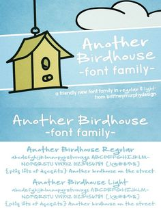 Another Birdhouse Font Family. Script Fonts. $7.00