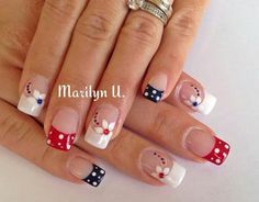 Cute nail designs for short nails nail designs for short nails 2019 full nail stickers nail art stickers at home nail stickers walmart nail art designs 2019 french tip nail designs for short nails best nail stickers nail appliques nail stickers walmart Really Cute Nails, Pretty Nails, French Nails, Usa Nails, Patriotic Nails, Nagel Hacks, Blue Acrylic Nails, Stylish Nails, Flower Nails