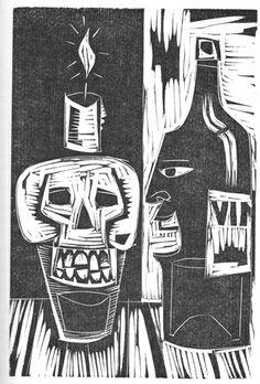 Grabado - Américo Balán - Balán, Américo, Plástica - Ediciones 'Albino & Asoc.' - AMB0001 > MuDi | Museo del Dibujo y la Ilustración