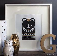 DIY Bear Wall Art