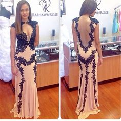 Sexy Long Mermaid Evening Dresses Backless Trumpet Prom Dresses With Appliques Women Party Gowns Vestido De Noche