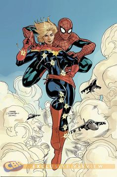 Spider-Man & Captain Marvel by the Dodsons