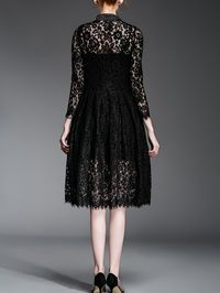 Beaded Lace Midi Dress...Take the sleeves up to at least 3/4 length.