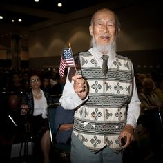 Shido-Sheng Peng, 92, of Taiwan first came to United States in 1961 as a student. He admired America's actions to protect Chinese people during World War II. He came to United States for good in 1985 and brought most of his family here with him.