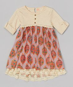 Tuberose Floral Field Dress - Girls #zulily #zulilyfinds