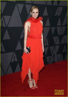Jessica Chastain & Diane Kruger Are Red-Hot at Governors Awards 2017!
