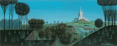Sleeping Beauty Castle Concept Art by Eyvind Earle Sleeping Beauty 1959 Disney Studios Forest Background, Art Background, Beauty Background, Sleeping Beauty Art, Eyvind Earle, Environment Painting, Environment Design, The Art Of Storytelling, Disney Princesses And Princes